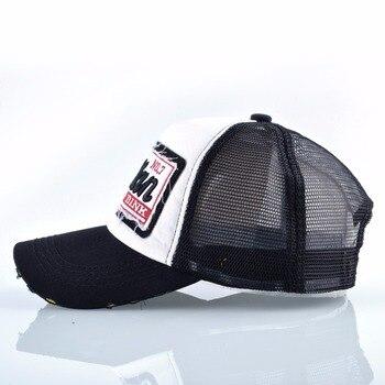 Fashion Letter Embroidery Baseball Cap For Men Women Summer Breathable Mesh Snapback Hat Unisex Hip Hop Trucker Bone Gorras 2