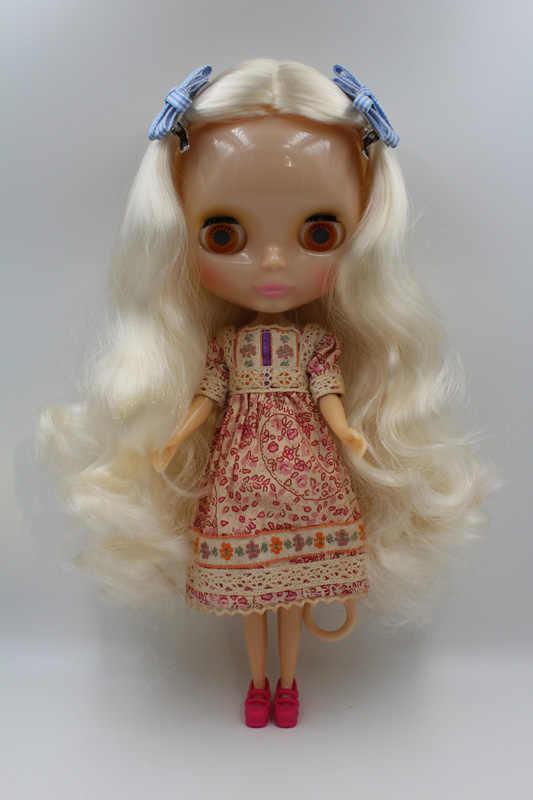 จัดส่งฟรีใสRBL-339T DIYเปลือยตุ๊กตาไบลท์ของขวัญวันเกิดสำหรับสาว4ตาโตสีที่มีผมสวยน่ารักของเล่น