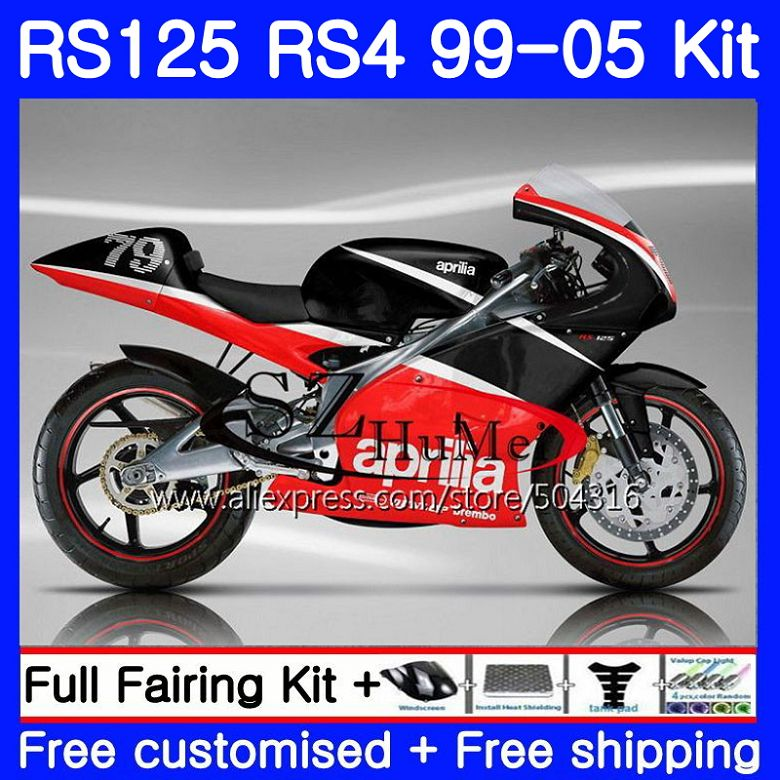 Black Windshield Windscreen for Aprilia rs125 rs250 1999-2005 Motorcycle 99 01