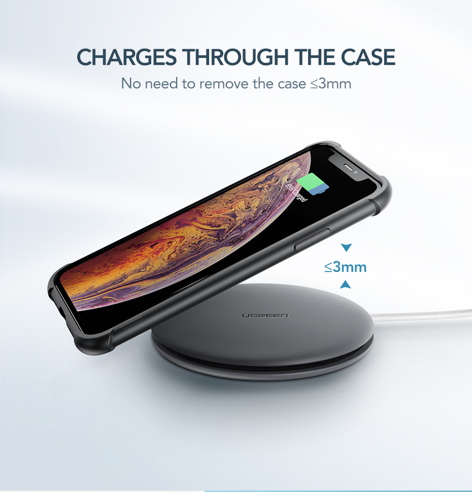 Ugreen Wireless Charger 10W 7.5W Qi Wireless Charging for xiaomi mi 9 iPhone X XS 8 XR Samsung S9 S8 Fast Phone Wireless Charger 8