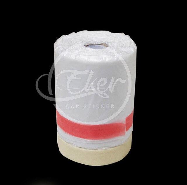 5pcs 55cm30m per roll pretaped plastic drop cloth masking film spray paint