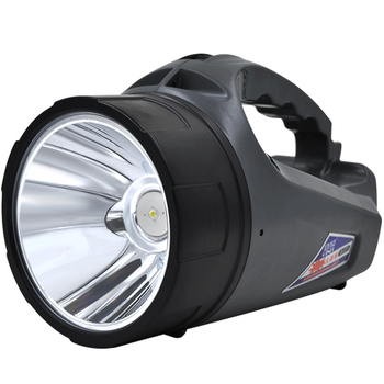 8W Super brillante al aire libre portátil de mano recargable linterna reflector larga lámpara IPX4 impermeable caza proyector