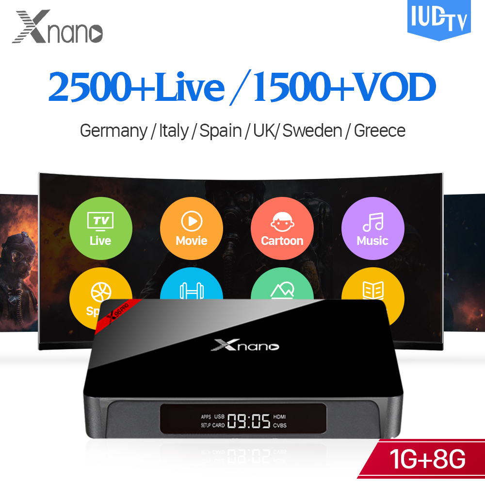 IPTV 4K Box IUDTV Code Subscription Android S905X Support BT4.0 Europe IPTV Box WiFi 2.4G Sweden Italy Spain Turkish IP TV free italy sky french iptv box 1300 european channels iudtv european iptv box live stream sky sports turkish sweden netherland