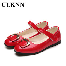 ULKNN Girls Leather Shoes Kids Casual Shoes For Girls Prince