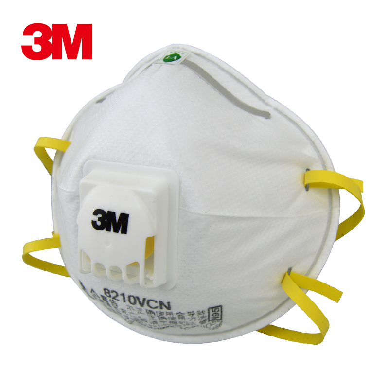 3M 8210V Respirator Dust Mask Cool Flow Valve Particles Mask PM2.5 N95 Respiratory Protection Cycling Outdoor Work