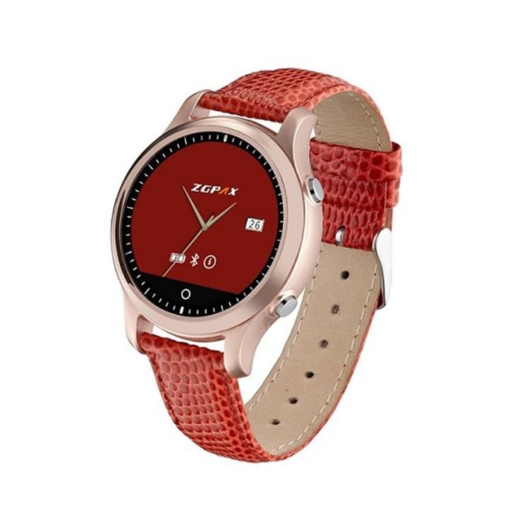 Free Shipping New 2016 ZGPAX S360 bluetooth reloj inteligente Round font b Smartwatch b font Surport