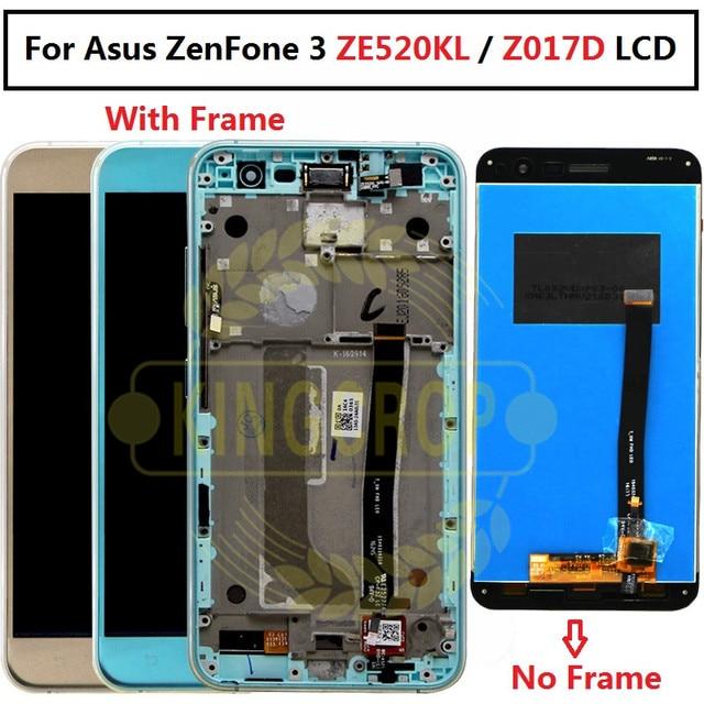 """עבור 5.2 """"Asus ZenFone 3 ZE520KL Z017D LCD מסך תצוגה + לוח מגע digitizer עם מסגרת עבור Asus Z017D lcd עבור Asus ZE520KL"""