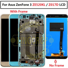 "For 5.2"" Asus ZenFone 3 ZE520KL Z017D LCD screen display+touch panel digitizer with frame for Asus Z017D lcd  for Asus ZE520KL"