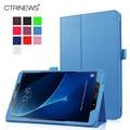 CTRINEWS Мода Кожаный Fundas для Samsung Galaxy Tab A 10.1 2016 T580 T585 Чехлы для Samsung Tab 10.1 Tablet Защитная кожи