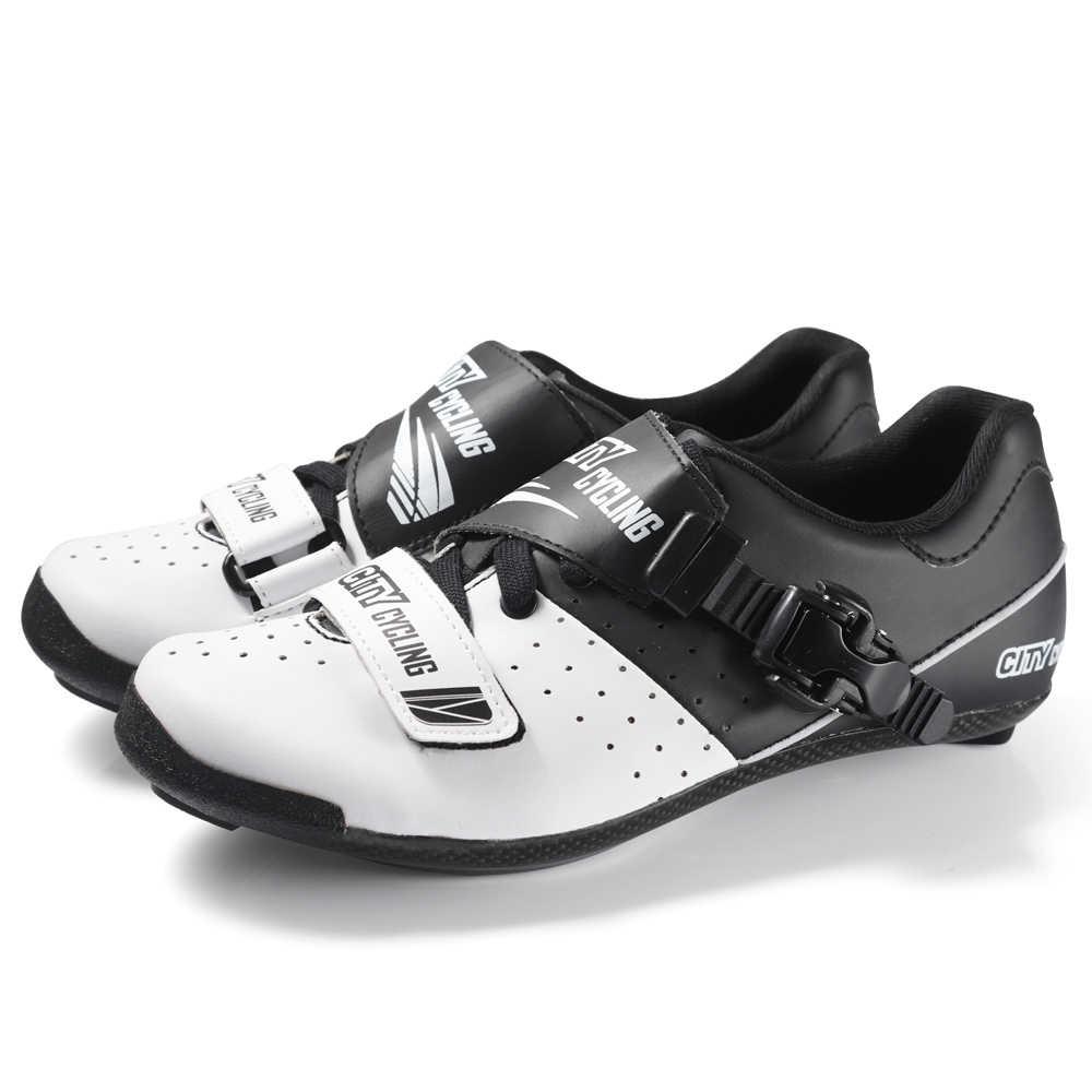 Nowe miasto 3K carbon buty rowerowe droga wyścigi rowerów trampki zamek buty rowerowe mężczyźni własnym blokowania WSMT TECH ultralight