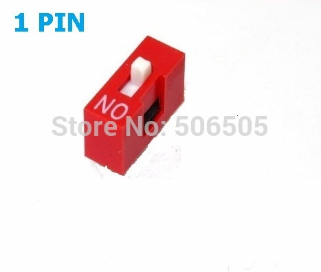 10pcs 1 Position 1P DIP Switch 2.54mm Pitch 2 Row Slide DIP Switch Free shipping