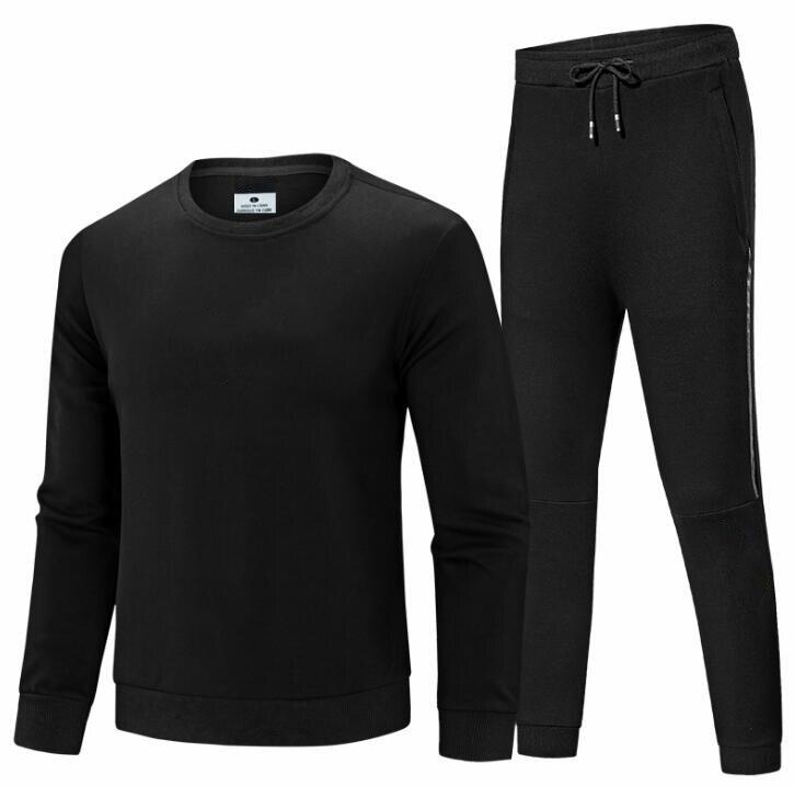 2019 nouveau FA248878 automne hiver hommes Hoodies ensemble hommes imprimé survêtement adolescents sweat à capuche veste + pantalons de survêtement hommes survêtement