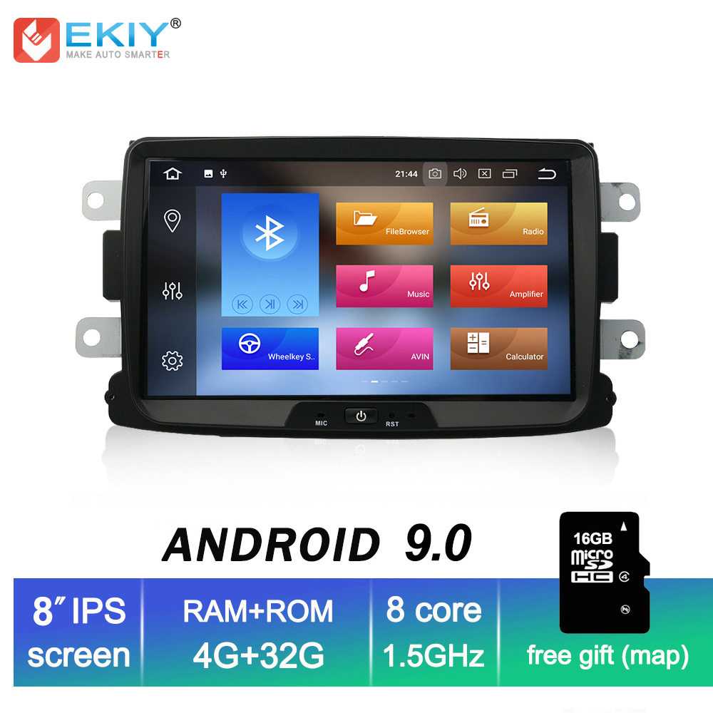 EKIY Car Multimedia Player <font><b>Android</b></font> 9.0 Automotivo <font><b>1</b></font> <font><b>Din</b></font> For Dacia Sandero Duster Renault Captur Lada Xray <font><b>2</b></font> Logan <font><b>2</b></font> GPS 4G+32G image