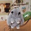 Porte clef Mullido pompón pompón de las mujeres femme Fourrure Pom Pom llavero Llavero Llaveros llavero de Piel de conejo real bolsa