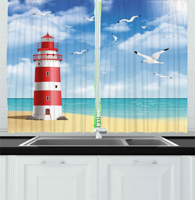 Lighthouse Seagull Ocean View Non Slip Shower Rug Bath Door Mat Kitchen Carpet