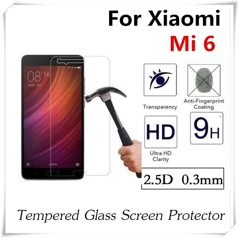 imágenes para 20 unids 2.5D Vidrio Templado Para Xiaomi 6 Mi6 Prueba de Explosión Anti-Shatter Protector de Pantalla Película Protectora