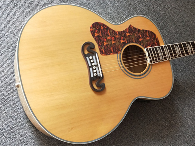 Natural 43 inch Left Hand Concert Acoustic Guitar,Solid Spruce Top Acoustic Guitar,Maple Back and Side,FreeShipping 1