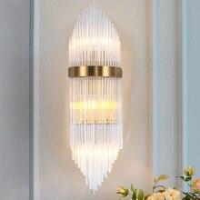 Wall-Lamp Crystal Glass Showroom Bedside Hallway Minimalist Modern Background Personality