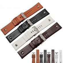D lujo marca de moda de lujo de los hombres correa de cuero 24mm26mm aguja hebilla de correa del reloj militar Relogio Z