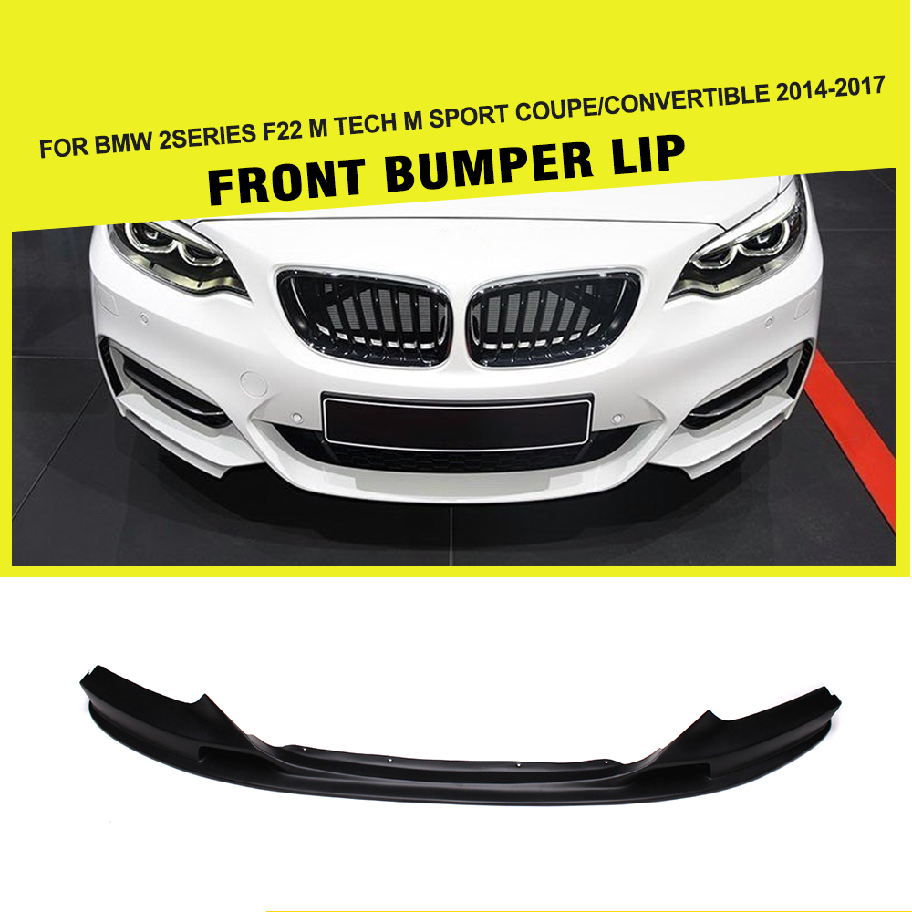 Racing Front Bumper Lip Spoiler Apron for BMW 2 Series F22 220i  228i 230i M Sport Coupe & Convertible 2014-2017 3 series carbon front bumper racing grill grills for bmw f30 f31 standard sport 12 16 320i 325i 330i 340i non m3 style car cover