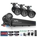 Sannce 8ch cctv sistema 4 unids 720 p visión nocturna resistente a la intemperie de seguridad cctv ir cut cámaras de vigilancia de vídeo kit para ru stock