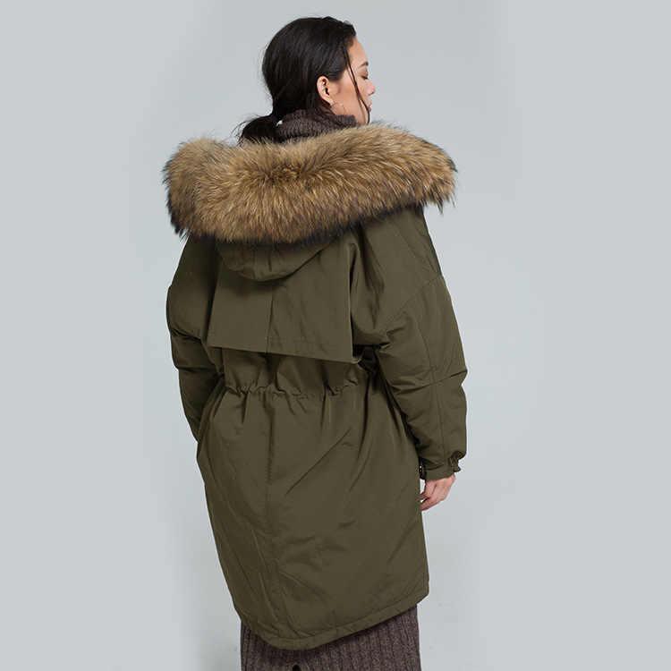 2017 новое поступление, зимний толстый длинный пуховик, большой воротник из меха енота, 90% белый утиный пух, женский модный пуховик 5601