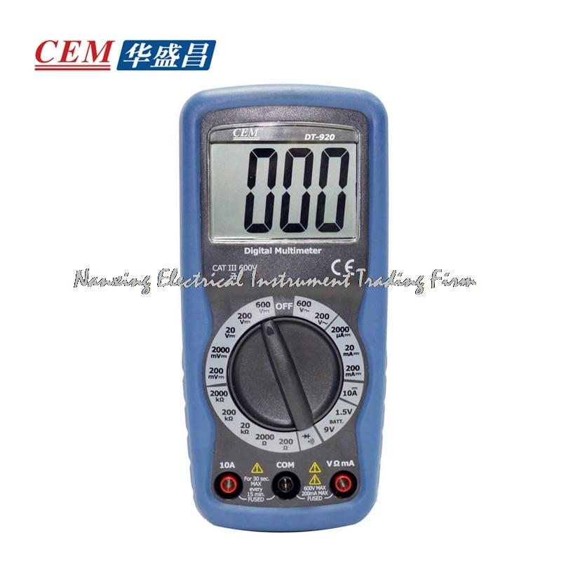 ФОТО CEM  DT-920 digital multimeter portable pocket type digital multimeter 600V 10A