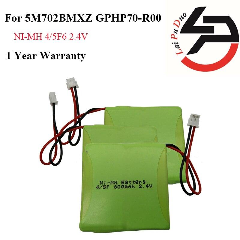 2 pcs/lot 2.4 V 800 mAh Ni-MH Téléphone Sans Fil Batterie forAudioline GP0735, GP0747, GP0748, 5M702BMX, British Telecom Verve 410,
