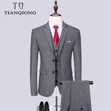 Модный мужской новейший дизайн пальто брюки повседневный деловой костюм комплект из 3 предметов/Мужские костюмы блейзеры брюки жилет