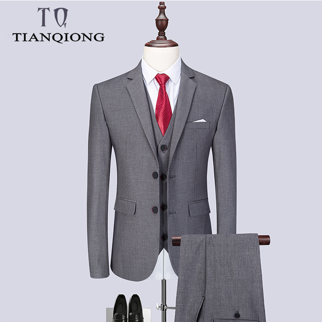 2019 Fashion Men's Latest Coat Pant Designs Casual Business Suit 3 Pieces Set /Men's Suits Blazers Trousers Pants Vest Waistcoat 1
