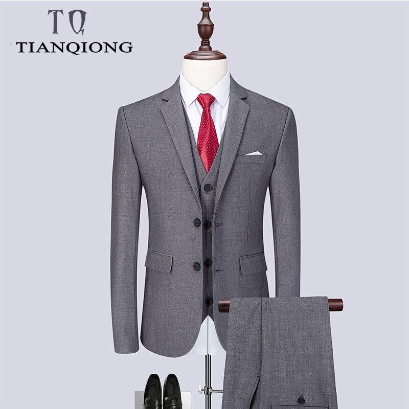 2019 แฟชั่นผู้ชายล่าสุด Coat กางเกง Designs Casual ธุรกิจชุด 3 ชิ้นชุด/ชายชุดเสื้อกางเกงกางเกงเสื้อกั๊ก Waistcoat-ใน สูท จาก เสื้อผ้าผู้ชาย บน   1