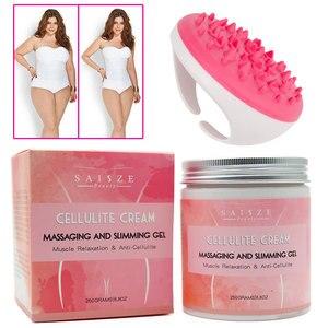 Image 1 - Body Slimming Cream Anti Cellulite Cream Fat Burner Creams+Handheld Bath Shower Full Body Massage Brush