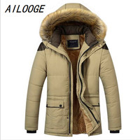 AILOOGE M 5XL Winter Jacket Men 2019 Long Warm Black Male Coat Down Jacket Parka Hee Grand Hooded Snow Cold Windbreaker