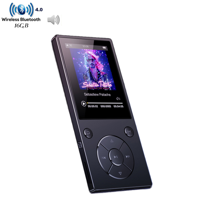 2018 HIFI Lossless Music MP3 Player With Bluetooth 2.4 TFT Screen Built-in Speaker Music Player Support TF Card Up To 128G havit® hv m6 wireless bluetooth 4 0 nfc sports speaker with built in microphone support tf card 3 5mm audio external connect up to 6 hours music playing easter day special page 7