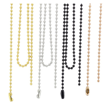 BOFEE 10pcs 316L Stainless Steel Ball Chain Necklace 18-32 Silver/Rose Gold/Gold/Black 2.4mm Pendant Dream Catcher Women Men