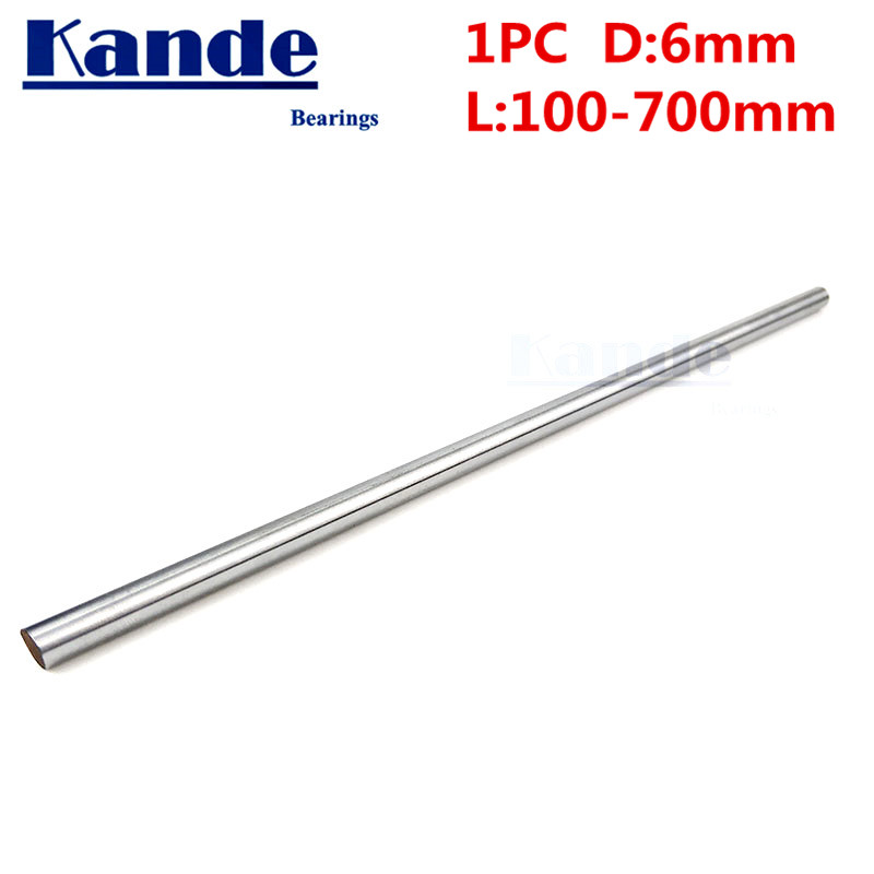 Kande Bearings 1pc d: 6mm 3D printer rod shaft 6mm linear shaft chrome plated rod shaft CNC parts 230mm 100mm 100-600mm kande bearings 1pc d 16mm 3d printer rod shaft 16mm linear shaft 230mm chrome plated rod shaft cnc parts 100 700mm