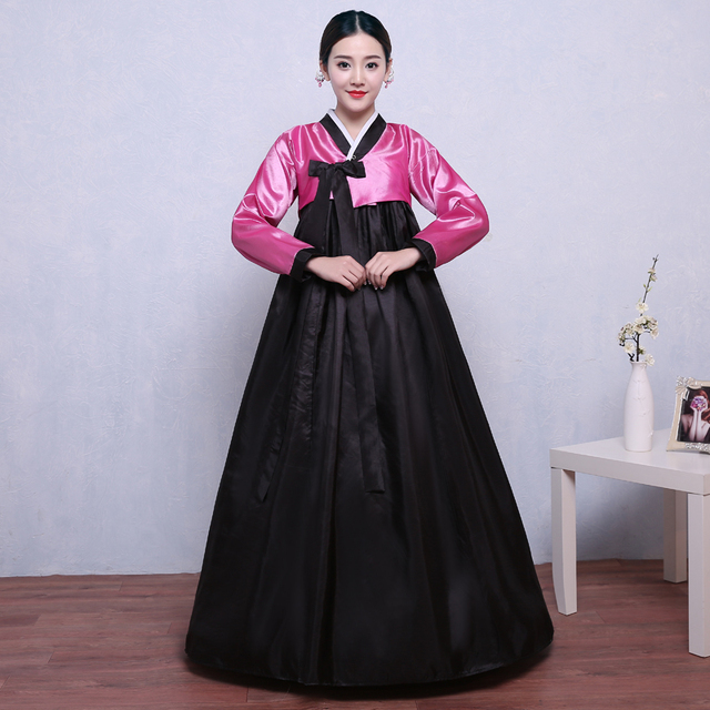 Favori 9 couleurs coréenne traditionnelle robe hanbok coréen costume  ZS29