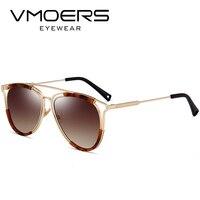 VMOERS Lüks Marka Aviator Güneş Kadınlar Kahverengi Degrade Tonları Oculos Kadın Kadınlar Için Tasarımcı Pilot Gözlük Güneş Gözlükleri