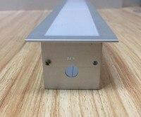 Free nakliye yüksek kalite 25 adet/grup 2 m/adet 2000mm x 50mm x 35mm gömme led alüminyum profil 5050 için, 5630, 3528 şerit led