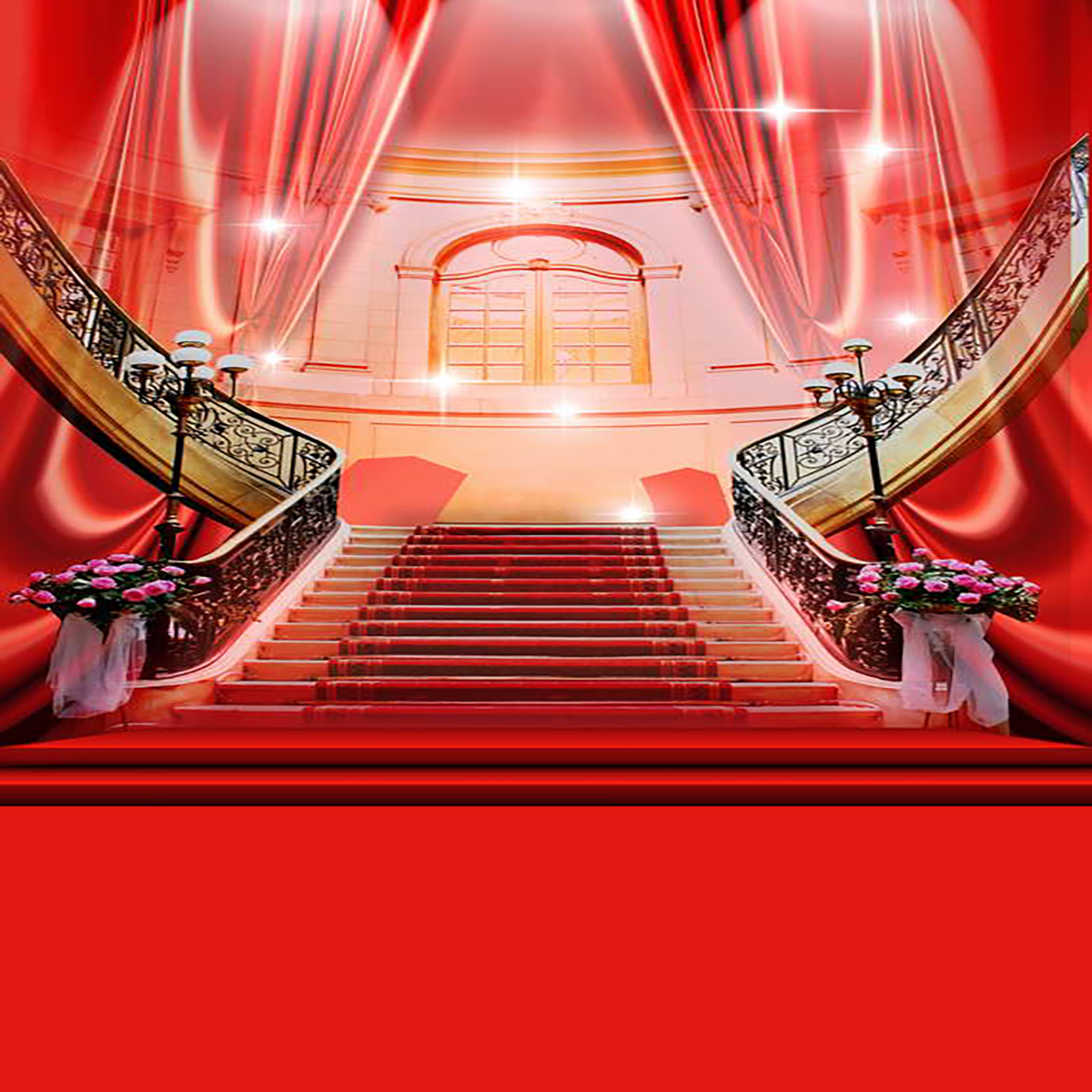Luxury shining red carpet curtain photography backgrounds vinyl cloth high quality computer - Red carpet photographers ...