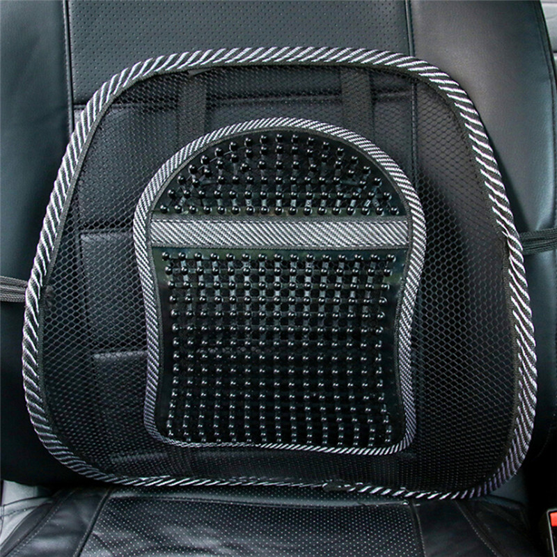 1pc Chair Back Support Massage Cushion Mesh Relief Lumbar Brace Car Truck Office Home Cushion Seat Chair Lumbar Back Support