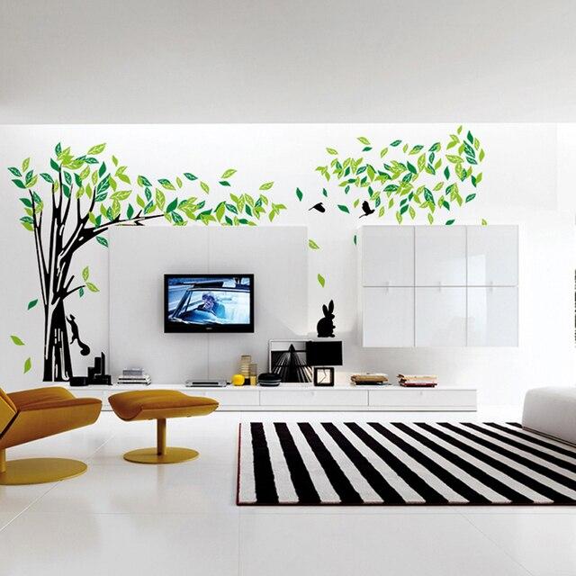 besar hijau pohon wall sticker vinyl dinding ruang tamu stiker