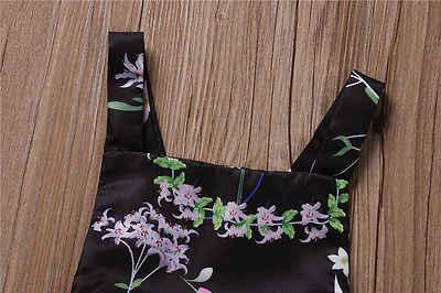 """Новый Одежда для малышей для девочек, комбинезон с цветочным принтом комбинезон купальник комплект одежды в виде симпатичного черного без рукавов проект """"Крест"""" одежды; комбинезон; одежда для детей"""