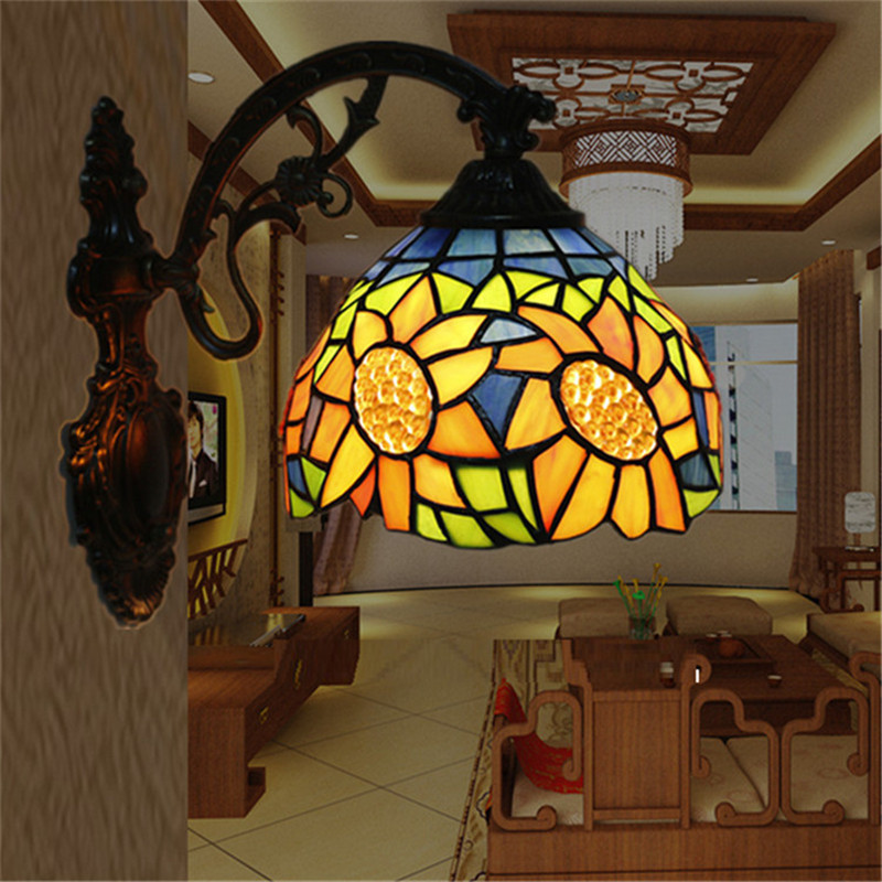 Tiffany wall lamp, Baroque wall lamp ,20cm wall mounted tiffany light for reading room ,balcony,bedroom, corridor TEN-W-008 reading literacy for adolescents