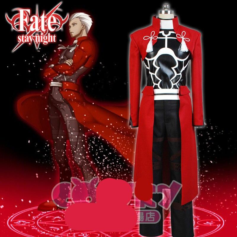 EMIYA cosplay Fate stay night cosplay costume archer red A emiya cosplay costume Uniform oufit fell