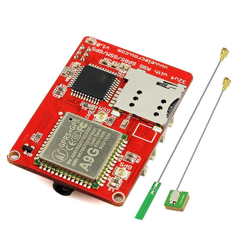 Elecrow ATMEGA 32u4 A9G GPRS GSM GPS Board Quad Band 3 Interfaces GPRS Class 10 DIY