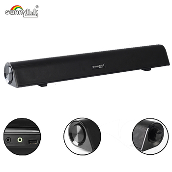 WIRELESS MINI BLUETOOTH SOUNDBAR FOR TV &COMPUTERS , 10W RMS SOUND BAR SPEAKER WITH BT+USB AUDIO+AUX , BUILT-IN POWERFUL BASS