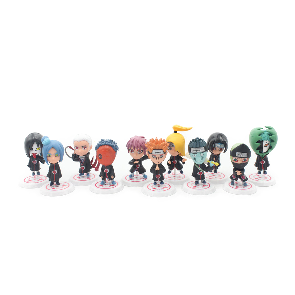 Chanycore 11pcs Set Version New Naruto Figure Sasuke Sakura Madara Uchiha Orochimaru Pvc Toy Action 8cm Classic Toys In Figures From