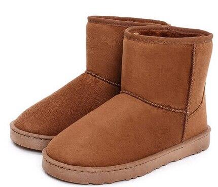 5f0f515ba9c58 2015 moda invierno mujeres nieve Botas marrones para mujer zapatos planos  de hombre botines Warm más el tamaño de arranque Botas Mujers en Botas de  nieve de ...