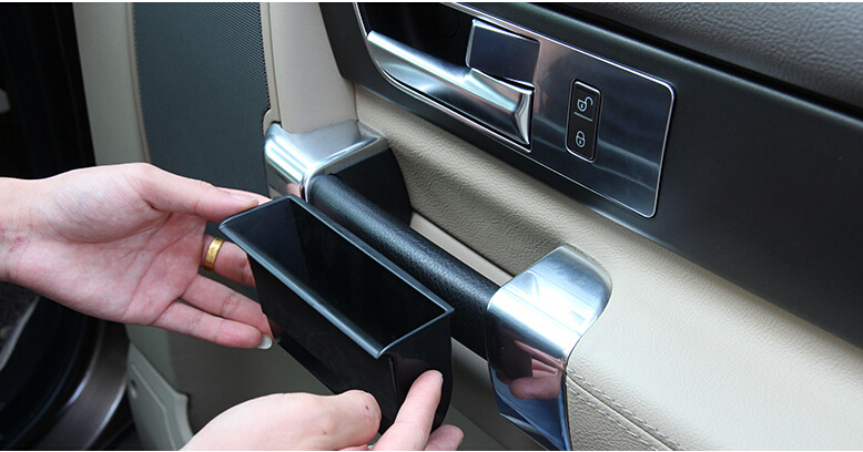 Car Styling!4pcs Inner Plastic Side Door Armrest Storage Box For Land Rover LR4 Discovery 4 2010-2015 for nissan murano 2015 2016 for left handed driving inner car window device panels side door armrest decorative frame trim 4pcs